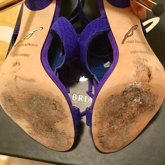 Brian Atwood purple electric blue Pumps Image 3
