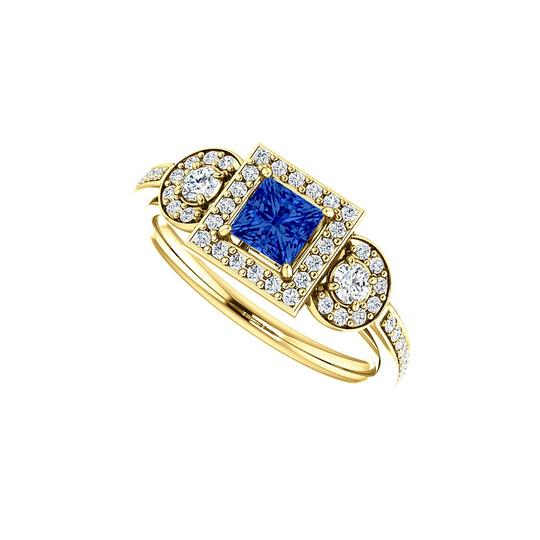 Preload https://img-static.tradesy.com/item/24143474/blue-square-sapphire-cz-unique-style-halo-18k-vermeil-ring-0-0-540-540.jpg