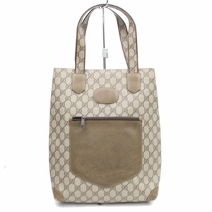 Gucci Supreme Gg Coated Crystal Logo Tote in Brown