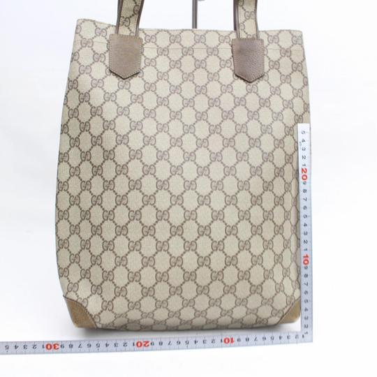 Gucci Supreme Gg Coated Crystal Logo Tote in Brown Image 5