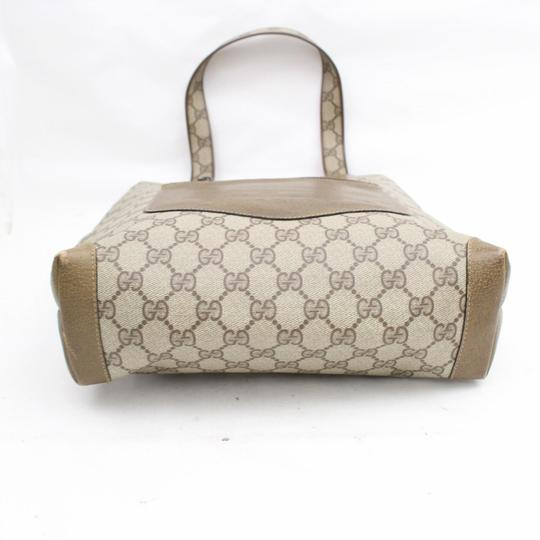 Gucci Supreme Gg Coated Crystal Logo Tote in Brown Image 6