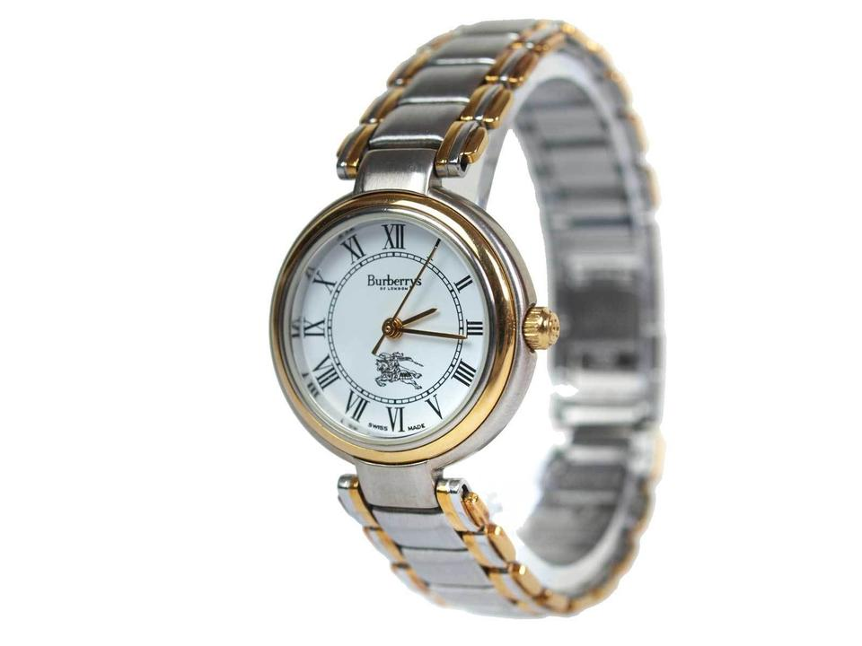 b4875962ab4 Burberry 8000 Two-Tone Gold Stainless Steel Vintage Ladies Watch Image 0 ...