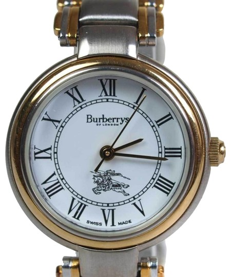 Burberry 8000 Two-Tone Gold Stainless Steel Vintage Ladies Watch Image 1