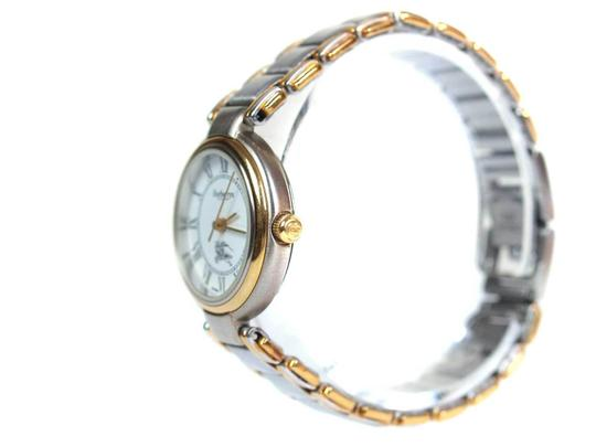 Burberry 8000 Two-Tone Gold Stainless Steel Vintage Ladies Watch Image 4