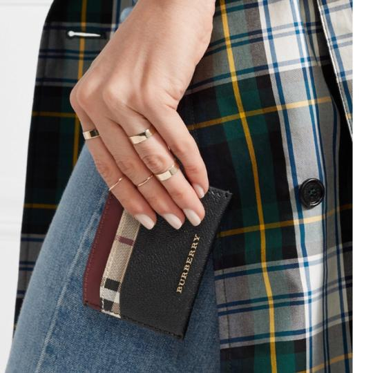 Burberry Black & Check Textured-leather and Checked Coated-canvas Cardholder Wallet Classic Image 2