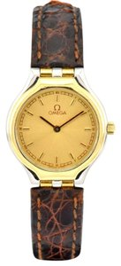 Omega Omega Vintage Symbol 18k Gold Stainless Steel Two-Tone Ladies Watch