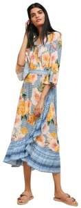 Blue,yellow Maxi Dress by Anthropologie