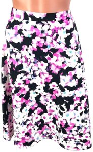 Adrienne Vittadini Mini Skirt Pink/White