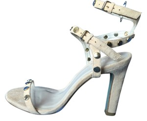 Hoss intropia Studded Suede Ankle Strap Nude Sandals