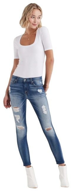 Item - Blue Distressed Ankle Skinny Jeans Size 27 (4, S)