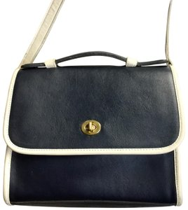 a9444286c1ab Added to Shopping Bag. Coach Cross Body Bag. Coach J4d-6870 Navy Blue White  Leather ...