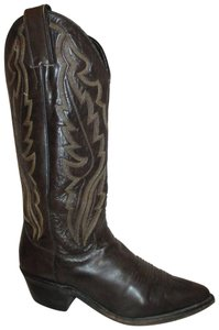 Justin Leather Western 002 Usa brown & tan Boots