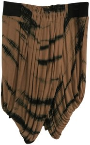 L.A.M.B. Tie Dye Gathered Skirt Caramel/Black