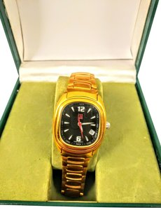 ESQ ESQ Swiss 18K gold plated watch
