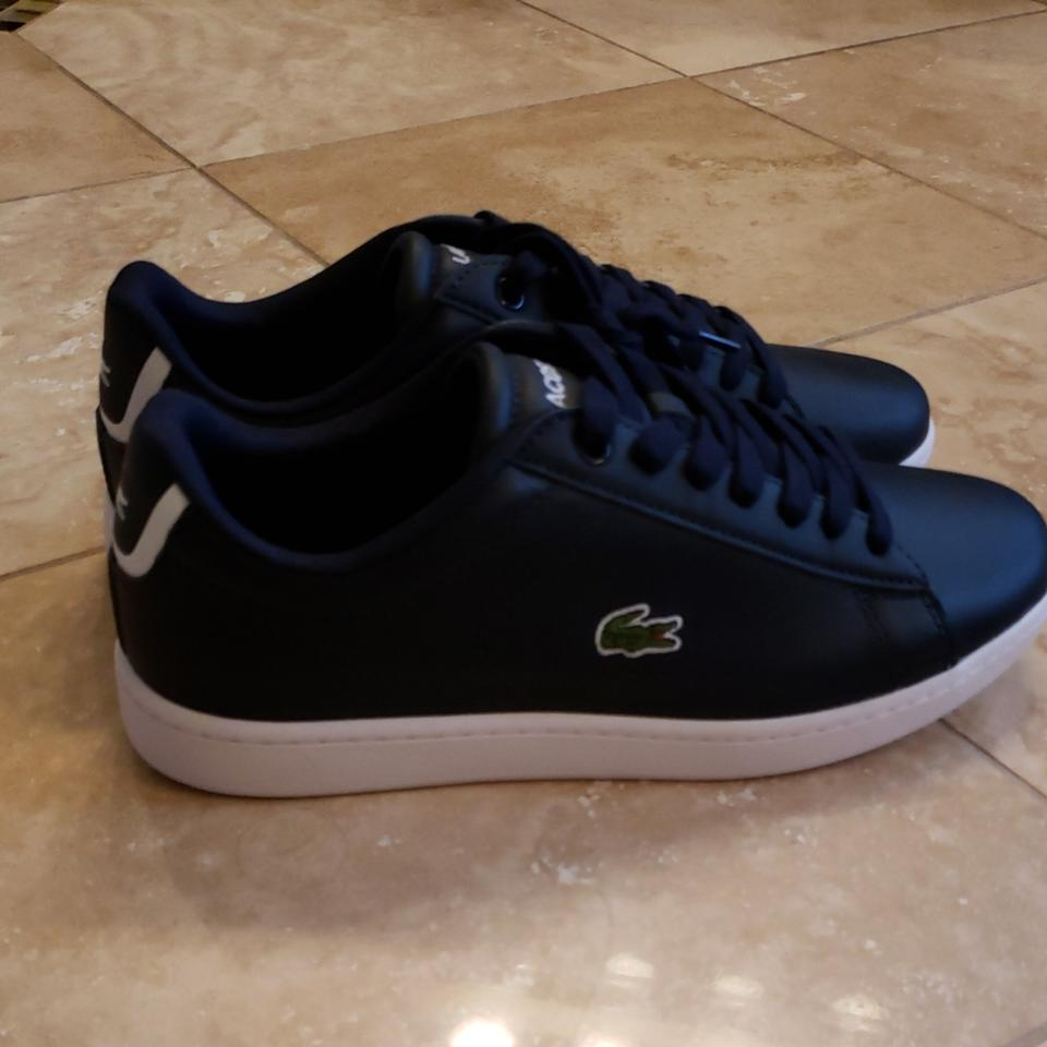6d336c0fbfe4 Lacoste Carnaby Navy Never Worn Sneakers Size US 7.5 Regular (M
