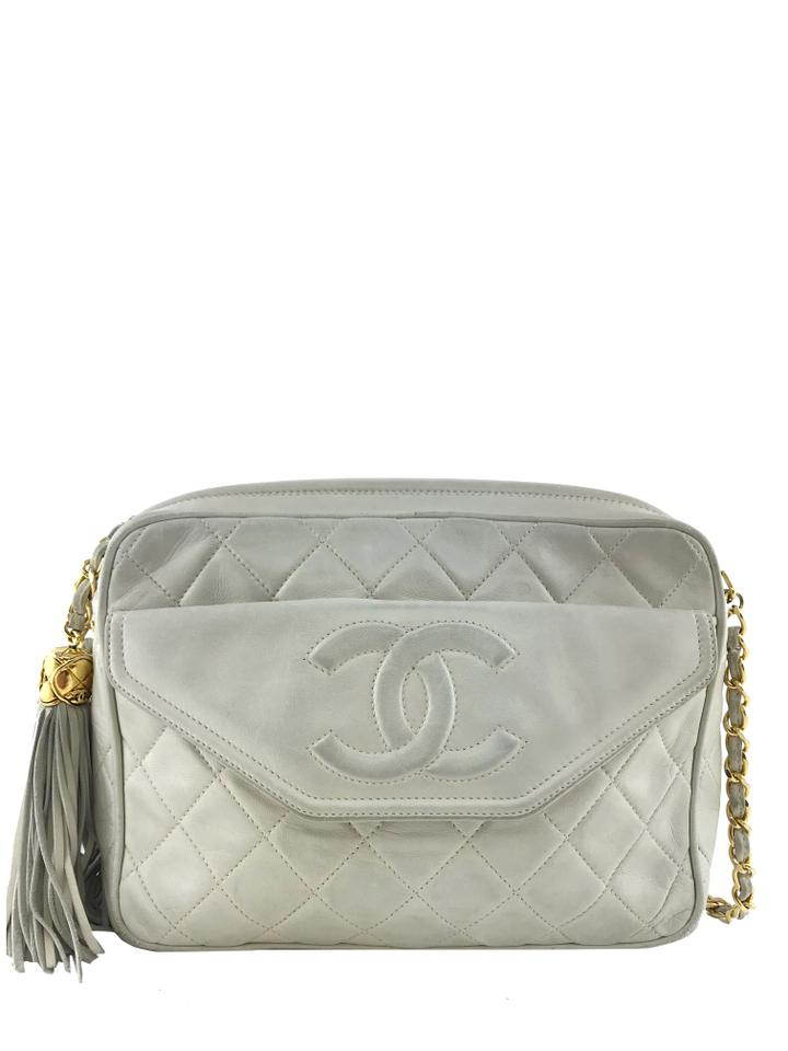 06cdfb7d741e Chanel Camera Case Tassel Ivory Lambskin Leather Shoulder Bag - Tradesy