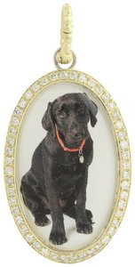 Hellmuth Hund NEW Hellmuth Hund Diamond Black Lab Pendant - 14k Gold & Sterling N271