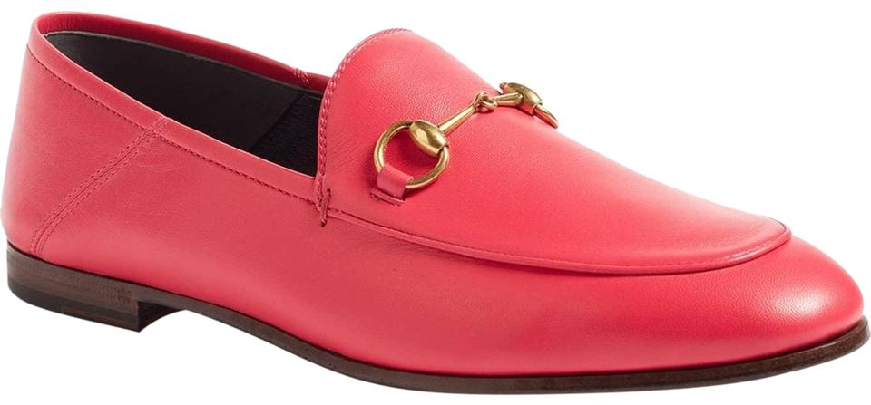 a08eeb7437f Gucci Hot Pink Horsebit Brixton Convertible Leather Loafers 37.5 ...