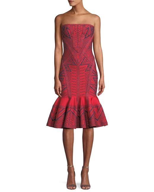 Preload https://img-static.tradesy.com/item/24145322/red-fluted-metallic-strapless-bodycon-mid-length-cocktail-dress-size-6-s-0-0-650-650.jpg