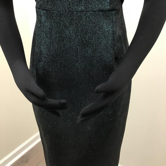 Teri Jon Metallic Teal Polyester Polyamide 77081 Formal Bridesmaid/Mob Dress Size 2 (XS) Image 3