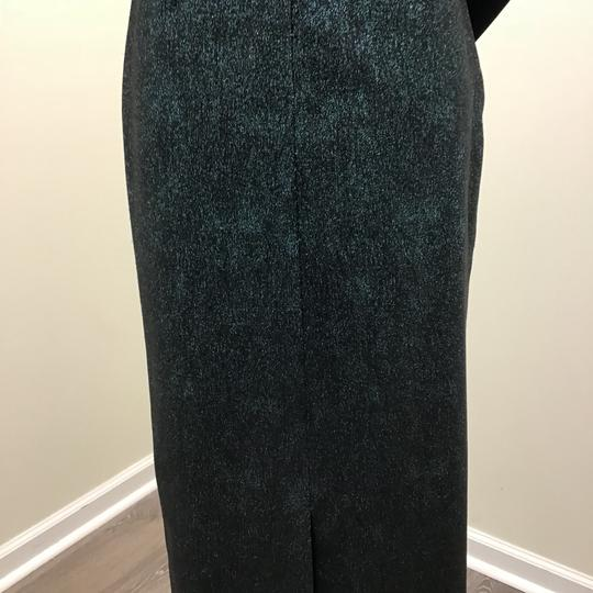 Teri Jon Metallic Teal Polyester Polyamide 77081 Formal Bridesmaid/Mob Dress Size 2 (XS) Image 6