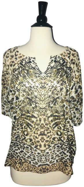Preload https://img-static.tradesy.com/item/24145377/chico-s-brown-and-tan-and-gold-leopard-metallic-fleck-dolman-blouse-size-12-l-0-6-650-650.jpg
