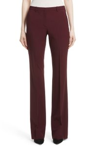 Theory Slacks Trousers Jeans Work Red Flare Pants Dark Currant
