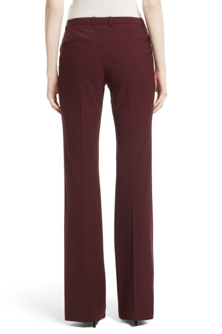 Theory Slacks Trousers Jeans Work Red Flare Pants Dark Currant Image 3