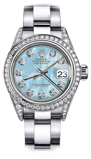 Preload https://img-static.tradesy.com/item/24145484/rolex-stainless-steel-baby-blue-pearl-tr-26mm-datejust-pave-diamond-watch-0-1-540-540.jpg