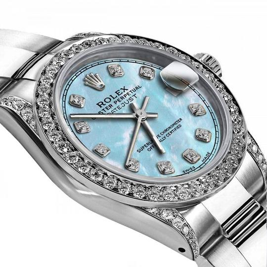 Rolex Rolex Baby Blue Pearl TR 26mm Datejust Stainless Steel Pave Diamond Image 1