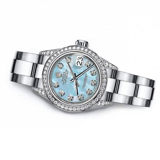 Rolex Rolex Baby Blue Pearl TR 26mm Datejust Stainless Steel Pave Diamond Image 2