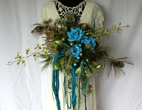 Mardi Gras Silk Bouquet Ceremony Decoration Image 2