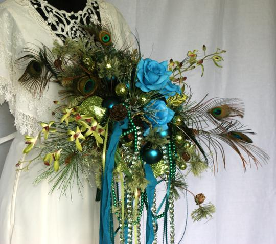 Mardi Gras Silk Bouquet Ceremony Decoration Image 4