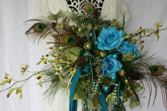 Mardi Gras Silk Bouquet Ceremony Decoration Image 5