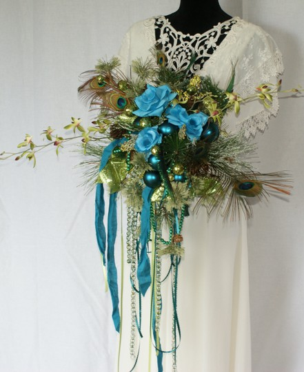 Mardi Gras Silk Bouquet Ceremony Decoration Image 8