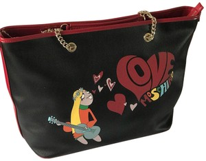 Love Moschino Tote in black/red