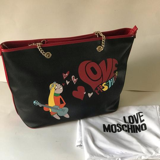 Love Moschino Tote in black/red Image 10