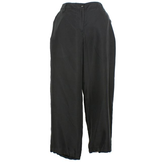 Preload https://img-static.tradesy.com/item/24145722/eileen-fisher-black-sandwashed-silk-twill-l-pants-size-14-l-34-0-0-650-650.jpg