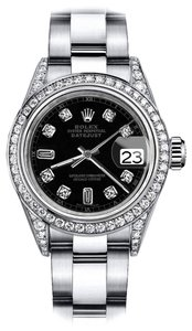 Rolex Rolex Black Track 8+2 26mm Datejust Pave Set Diamond Bezel & Lugs