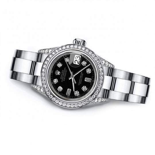 Rolex Rolex Black Track 8+2 26mm Datejust Pave Set Diamond Bezel & Lugs Image 2