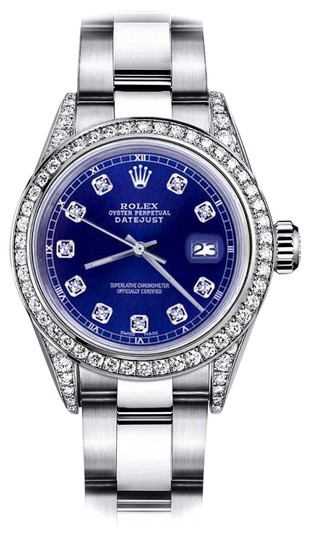 Preload https://img-static.tradesy.com/item/24145784/rolex-stainless-steel-blue-26mm-datejust-diamond-bezel-and-lugs-oyster-band-watch-0-1-540-540.jpg