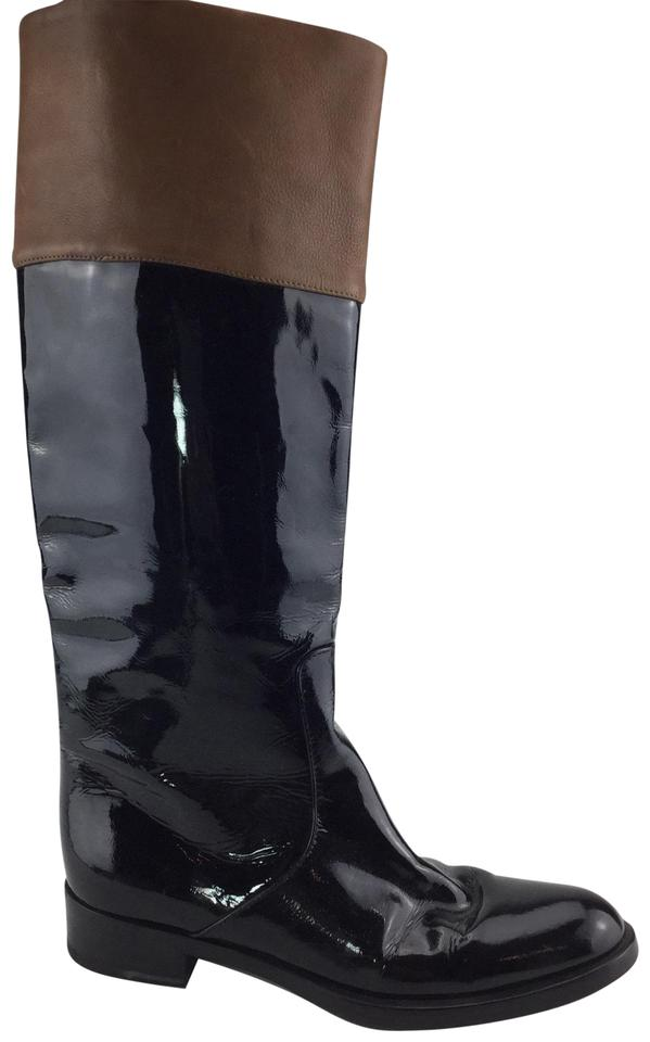 premium selection watch good texture Gianvito Rossi Black Patent Riding Boots/Booties Size EU 37 (Approx. US 7)  Regular (M, B)