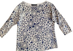 Thakoon Top Navy and white