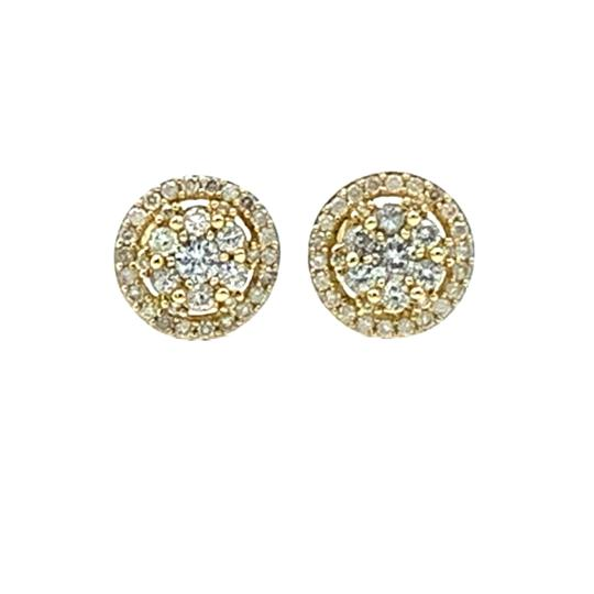 Other (003) 14K Yellow Gold Diamond Round Stud Earrings Image 0