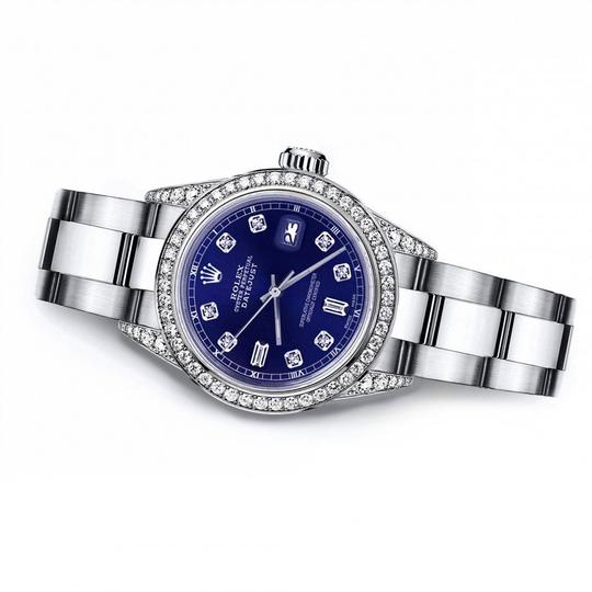 Rolex Rolex Blue 8+2 26mm Datejust Diamond Bezel & Lugs Oyster Band Image 2