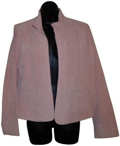 Coldwater Creek Dryclean Only Pink Leather Jacket
