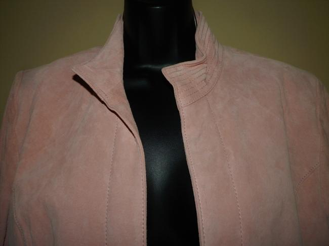 Coldwater Creek Dryclean Only Pink Leather Jacket Image 1
