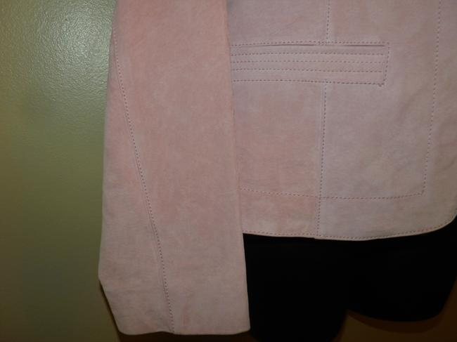 Coldwater Creek Dryclean Only Pink Leather Jacket Image 3