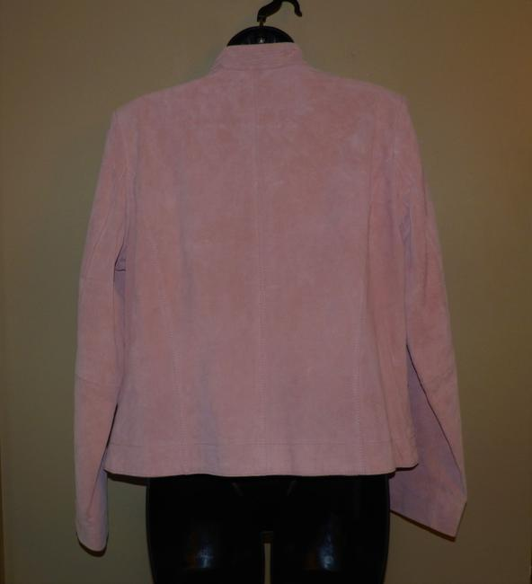 Coldwater Creek Dryclean Only Pink Leather Jacket Image 4