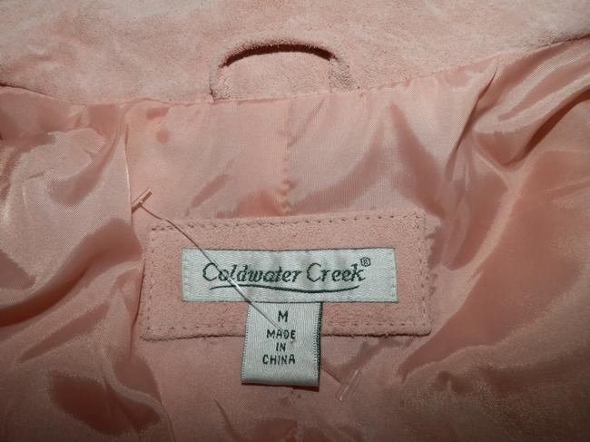 Coldwater Creek Dryclean Only Pink Leather Jacket Image 7